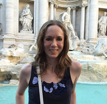 Lauren Gearhart at the Trevi Fountain in Italy