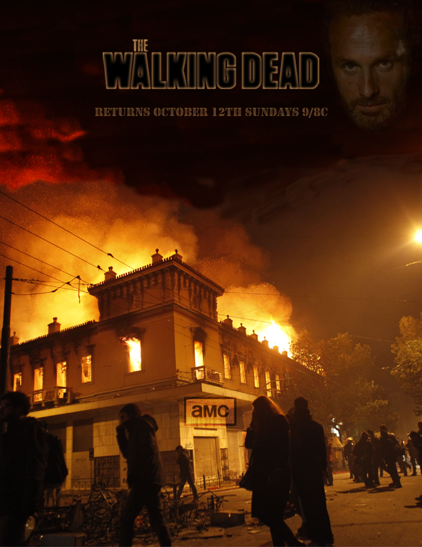 Photoshop project: The Walking Dead Promotional Poster